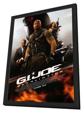 G.I. Joe: Retaliation - 11 x 17 Movie Poster - Style B - in Deluxe Wood Frame