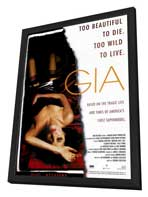 Gia - 27 x 40 Movie Poster - Style A - in Deluxe Wood Frame