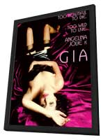 Gia - 11 x 17 Movie Poster - Style C - in Deluxe Wood Frame