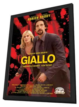 Giallo - 11 x 17 Movie Poster - Style A - in Deluxe Wood Frame