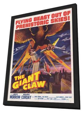 The Giant Claw - 27 x 40 Movie Poster - Style A - in Deluxe Wood Frame