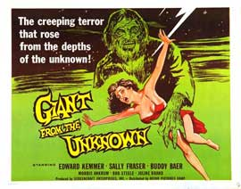 Giant From the Unknown - 22 x 28 Movie Poster - Half Sheet Style A