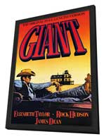 Giant - 11 x 17 Movie Poster - Style C - in Deluxe Wood Frame