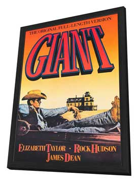 Giant - 27 x 40 Movie Poster - Style A - in Deluxe Wood Frame