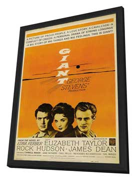Giant - 27 x 40 Movie Poster - Style B - in Deluxe Wood Frame