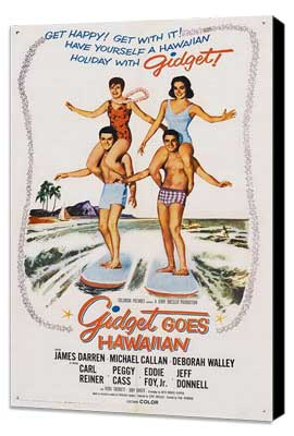 Gidget Goes Hawaiian - 11 x 17 Movie Poster - Style A - Museum Wrapped Canvas