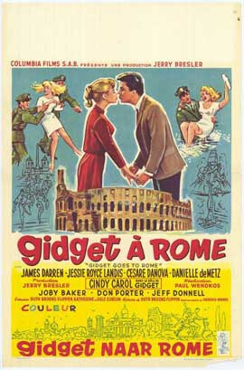 Gidget Goes to Rome - 11 x 17 Movie Poster - Belgian Style A