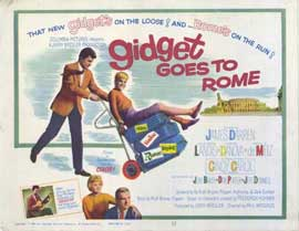 Gidget Goes to Rome - 11 x 14 Movie Poster - Style A