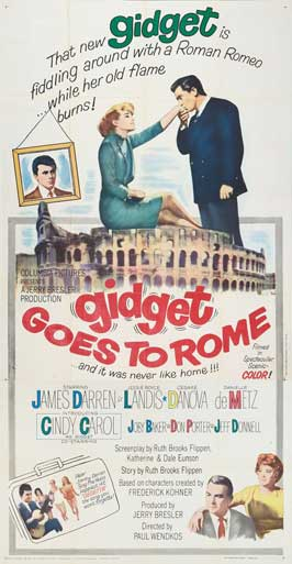 Gidget Goes to Rome - 20 x 40 Movie Poster - Style A