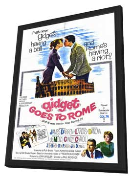 Gidget Goes to Rome - 11 x 17 Movie Poster - Style A - in Deluxe Wood Frame