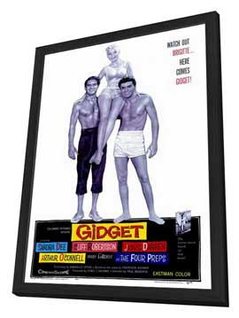 Gidget - 27 x 40 Movie Poster - Style A - in Deluxe Wood Frame