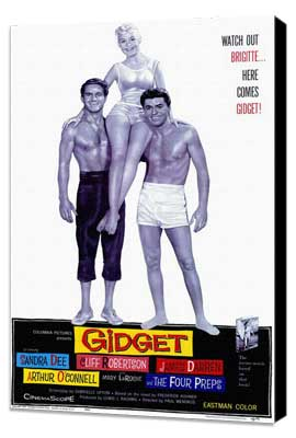 Gidget - 11 x 17 Movie Poster - Style A - Museum Wrapped Canvas