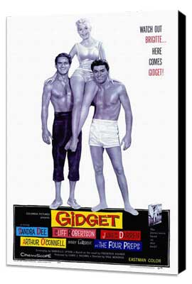 Gidget - 27 x 40 Movie Poster - Style A - Museum Wrapped Canvas