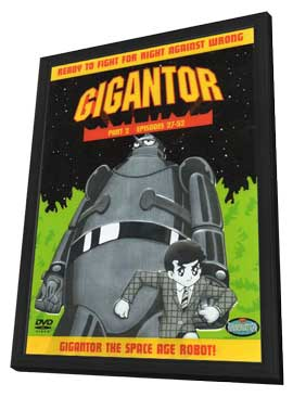Gigantor - 11 x 17 Movie Poster - Style A - in Deluxe Wood Frame