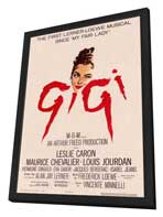 Gigi - 27 x 40 Movie Poster - Style A - in Deluxe Wood Frame