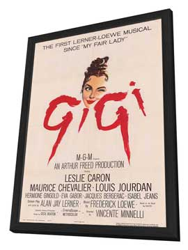 Gigi - 11 x 17 Movie Poster - Style A - in Deluxe Wood Frame