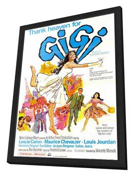 Gigi - 11 x 17 Movie Poster - Style B - in Deluxe Wood Frame
