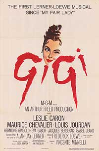 Gigi - 11 x 17 Movie Poster - Style A - Museum Wrapped Canvas