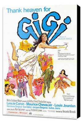 Gigi - 11 x 17 Movie Poster - Style B - Museum Wrapped Canvas