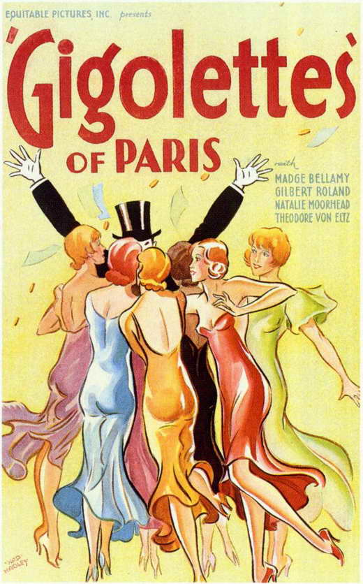 gigolettes of paris movie posters from movie poster shop. Black Bedroom Furniture Sets. Home Design Ideas