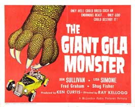 Gila Monster - 22 x 28 Movie Poster - Half Sheet Style A