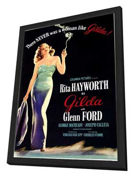 Gilda - 11 x 17 Movie Poster - Style A - in Deluxe Wood Frame