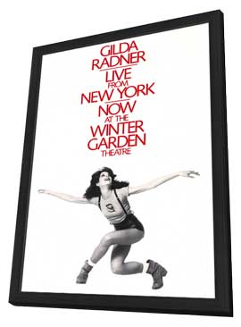Gilda Radner - Live From New York (Broadway) - 27 x 40 Movie Poster - Style A - in Deluxe Wood Frame