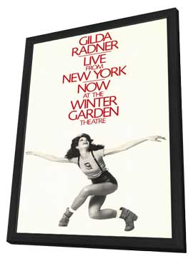Gilda Radner - Live From New York (Broadway) - 11 x 17 Poster - Style A - in Deluxe Wood Frame