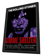 Gimme Shelter - Rolling Stones - 11 x 17 Movie Poster - Style A - in Deluxe Wood Frame