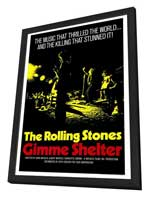 Gimme Shelter - Rolling Stones - 27 x 40 Movie Poster - Style A - in Deluxe Wood Frame