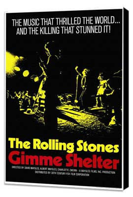 Gimme Shelter - Rolling Stones - 11 x 17 Movie Poster - Style A - Museum Wrapped Canvas
