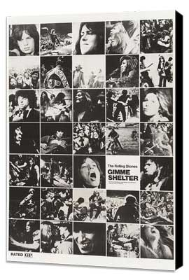 Gimme Shelter - Rolling Stones - 11 x 17 Movie Poster - Style B - Museum Wrapped Canvas