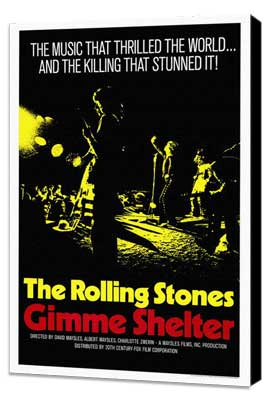 Gimme Shelter - Rolling Stones - 27 x 40 Movie Poster - Style A - Museum Wrapped Canvas
