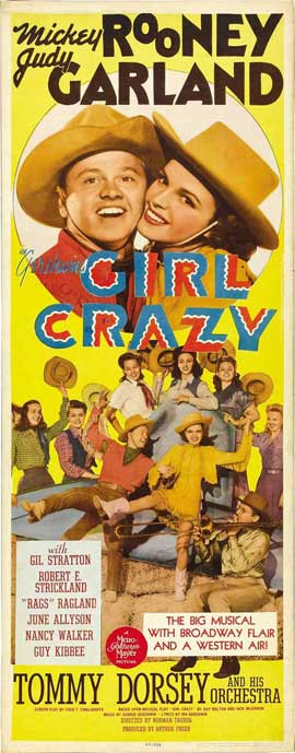 Girl Crazy - 14 x 36 Movie Poster - Insert Style A
