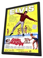 Girl Happy - 11 x 17 Movie Poster - Style A - in Deluxe Wood Frame