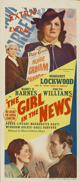 Girl in the News - 13 x 30 Movie Poster - Australian Style A