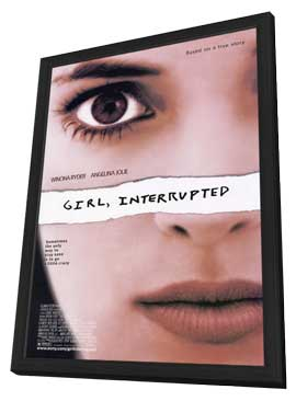 Girl, Interrupted - 27 x 40 Movie Poster - Style B - in Deluxe Wood Frame