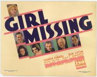 Girl Missing - 11 x 14 Movie Poster - Style F
