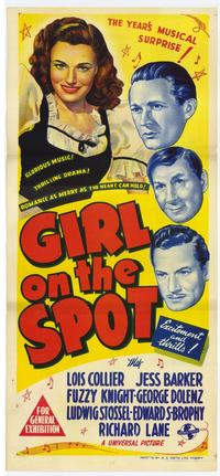 Girl on the Spot - 11 x 17 Movie Poster - Australian Style A