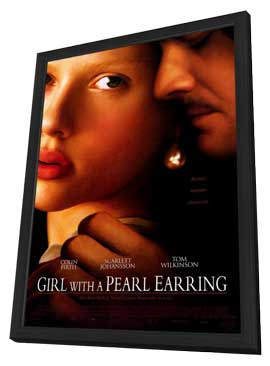Girl with a Pearl Earring - 27 x 40 Movie Poster - Style A - in Deluxe Wood Frame