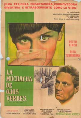 Girl with Green Eyes - 27 x 40 Movie Poster - Spanish Style A