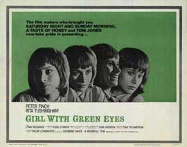 Girl with Green Eyes - 11 x 17 Movie Poster - Style B