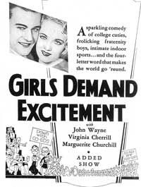 Girls Demand Excitement - 11 x 17 Movie Poster - Style A
