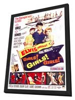 Girls! Girls! Girls! - 11 x 17 Movie Poster - Style A - in Deluxe Wood Frame