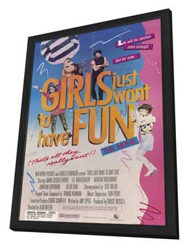 Girls Just Want to Have Fun - 11 x 17 Movie Poster - Style A - in Deluxe Wood Frame