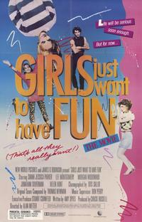 Girls Just Want to Have Fun - 11 x 17 Movie Poster - Style A - Museum Wrapped Canvas