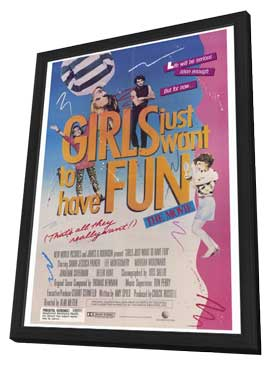 Girls Just Want to Have Fun - 27 x 40 Movie Poster - Style A - in Deluxe Wood Frame