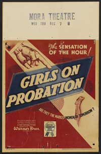 Girls on Probation - 43 x 62 Movie Poster - Bus Shelter Style A