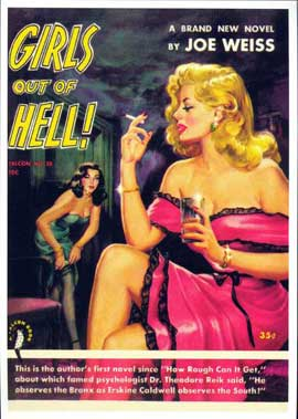 Girls Out of Hell - 11 x 17 Retro Book Cover Poster