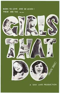 Girls That Do - 11 x 17 Movie Poster - Style A
